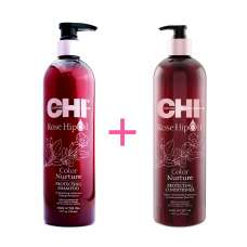 Набор Chi Rose Hip Protecting Shampoo + Conditioner